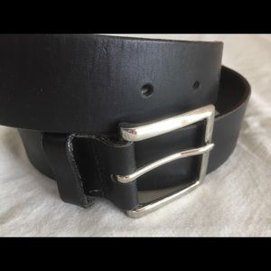 "GAP Leather 1-3/8"" wide belt, black, small"